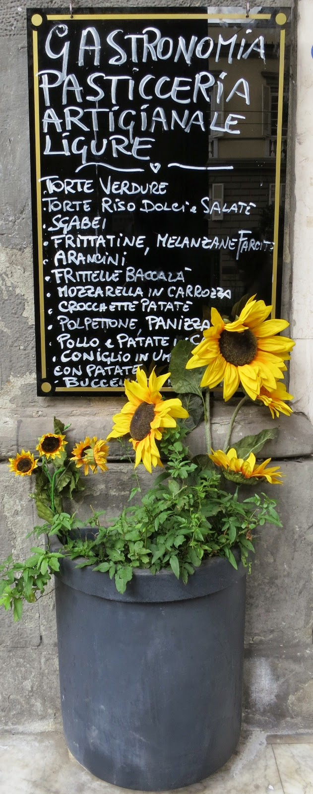 Portovenere Food Specialties Menu