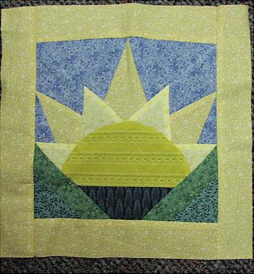 quilt pattern rising sun