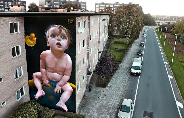 Street Art Mural By Telmo Miel For The Day One Festival In Antwerp, Belgium 1