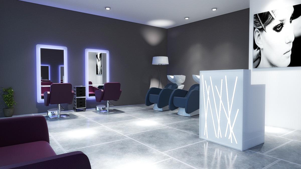 Estetica parrucchieri solarium illuminazione come for Gamma arredamenti parrucchieri