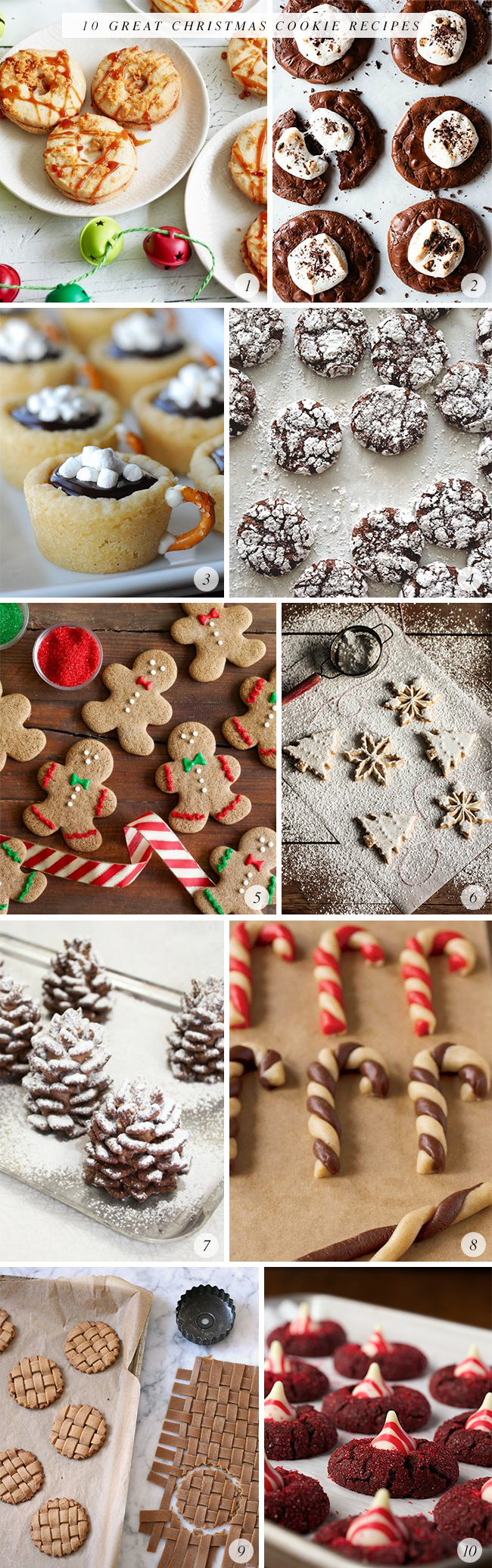 10 Great Christmas Cookie Recipes // Bubby and Bean