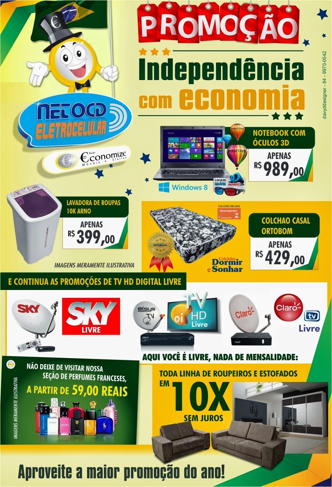 Promoção de Independência nas Lojas Neto CD Eletro celular