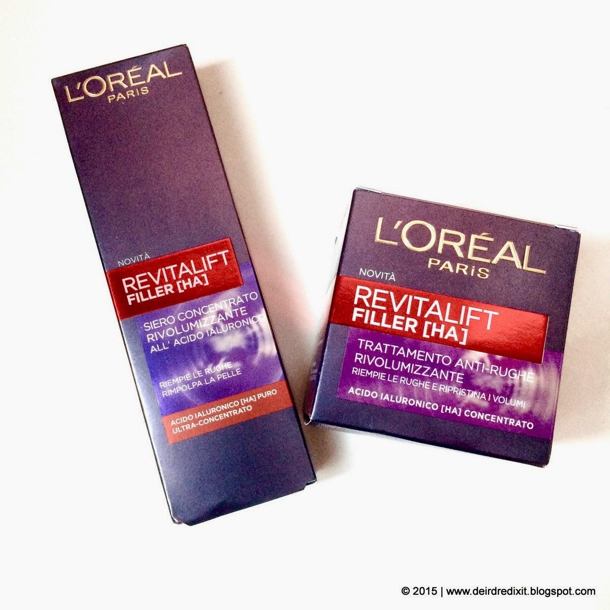 La verità sull'età: L'Oréal Revitalift Filler [HA]