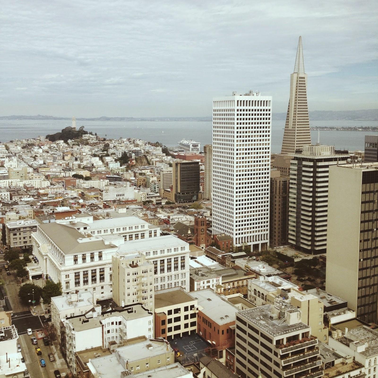 view of San Francisco city and bay