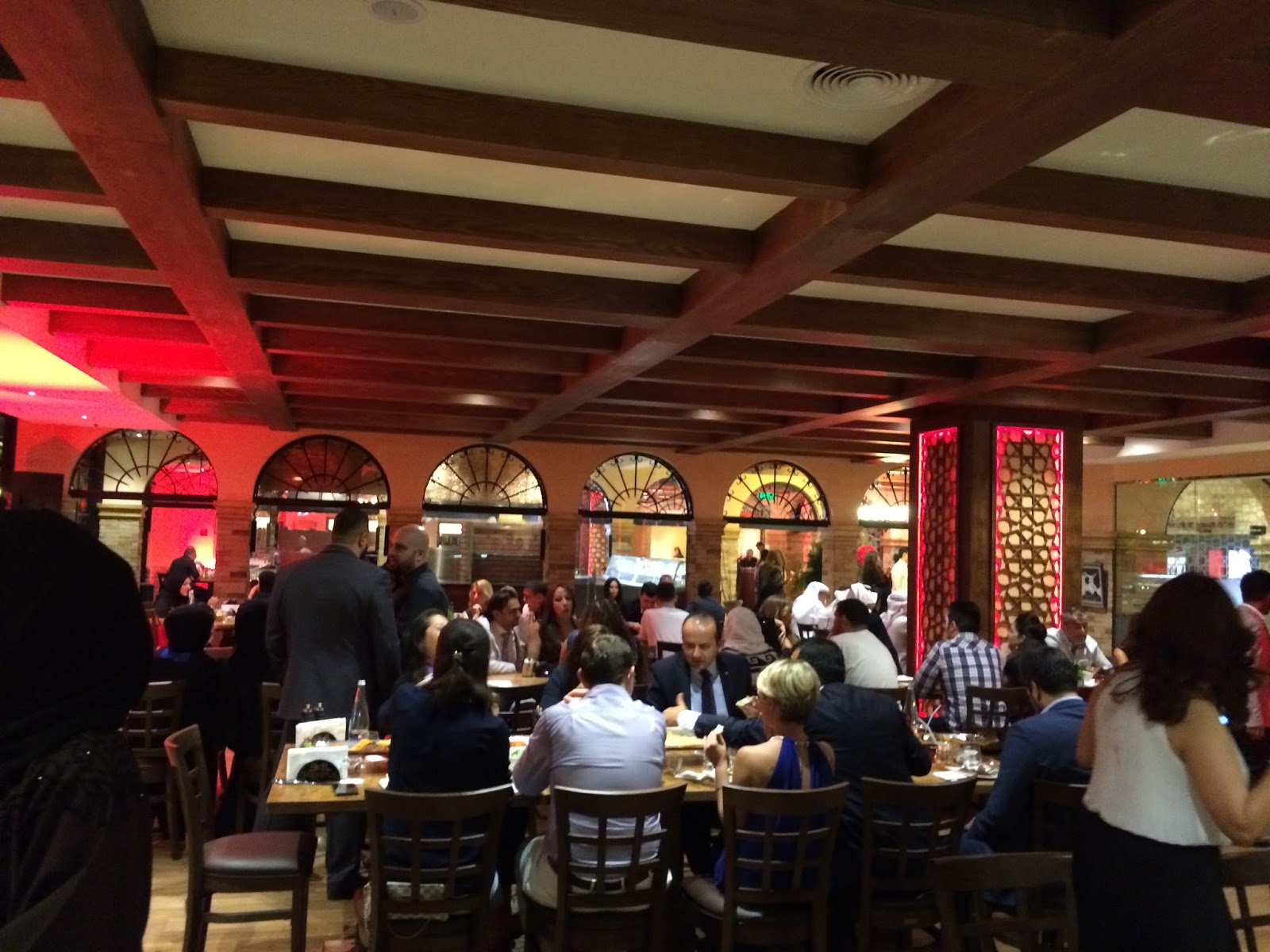 Busy Restaurant Scene The Was Utterly And Decor