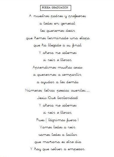Poemas De Graduacion Para Preescolar