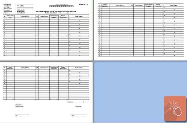 Contoh Format Daftar Penyerahan Ijazah Kepada Lulusan Ujian Sekolah