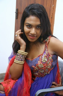 Actress Risha Pictures in Salwar Kameez at Aluchatiyam Audio Launch 0013