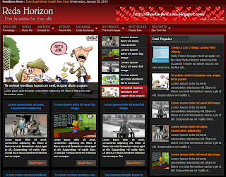 Download Template Blogger Keren Reds Horizon