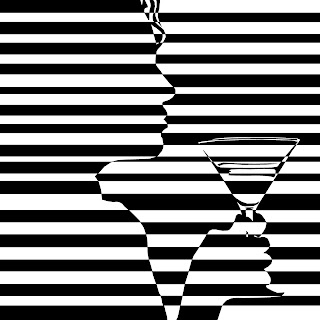 psychedelic martini optical illusion