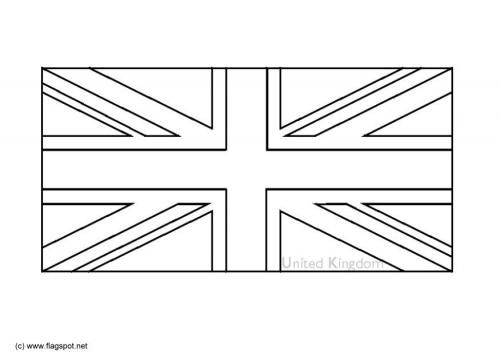 LAMINAS PARA COLOREAR - COLORING PAGES: Mapa y Bandera de Gran ...