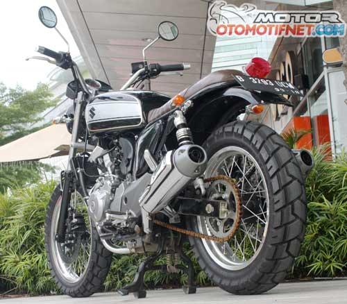 Modifikasi Suzuki Inazuma Street Tracker