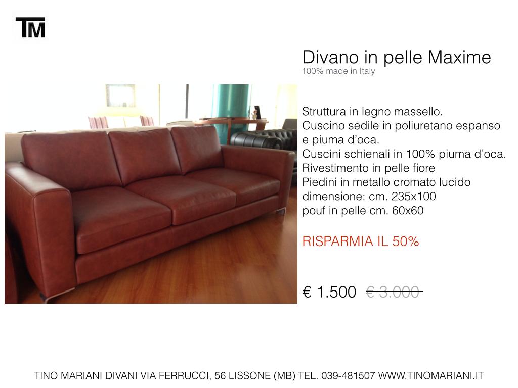 Divani blog tino mariani divani in promozione for Divani in promozione