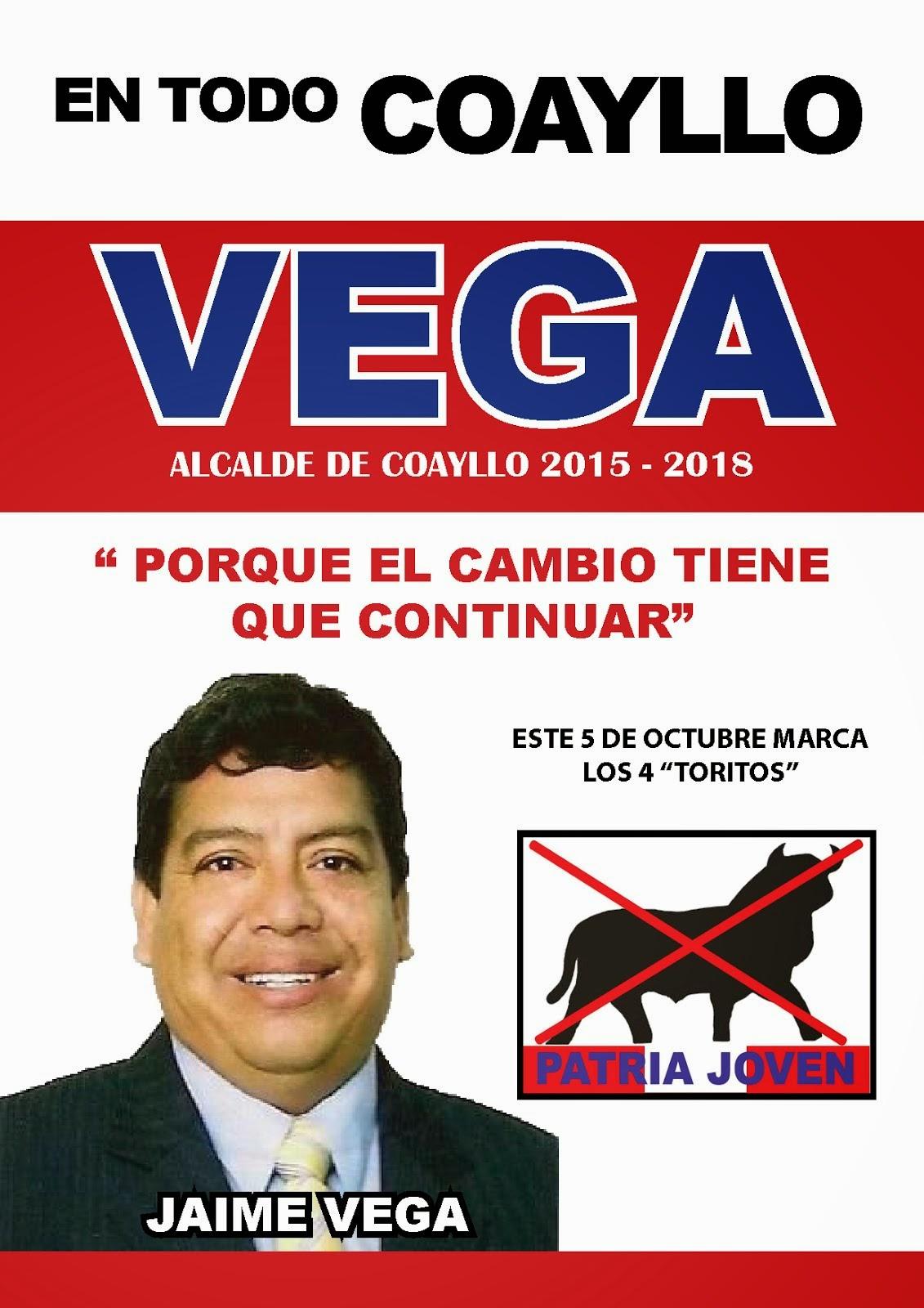 Jaime VEGA alcalde de Coayllo 2015 - 2018