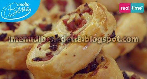 Ventaglietti di Pasta Sfoglia e Wurstel di Benedetta Parodi