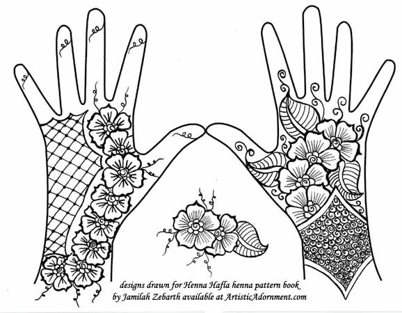 Gallery For Gt Hand Template For Henna