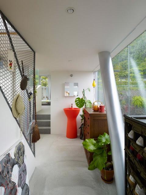 Ванная комната в надземном доме