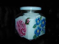 cristal decorado con acrílicos