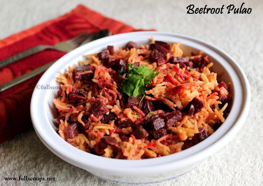 Beet Root Pulao