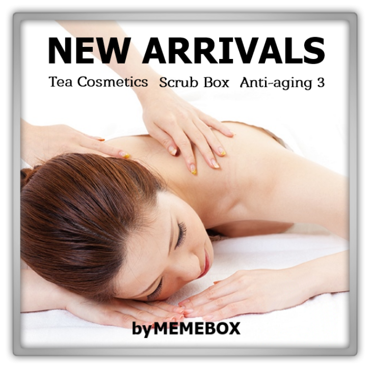 memebox Special 30 Tea Cosmetics scrub box anit aging 3 미미박스 Commercial picture is created by Marjolein kucmer woman is from istock