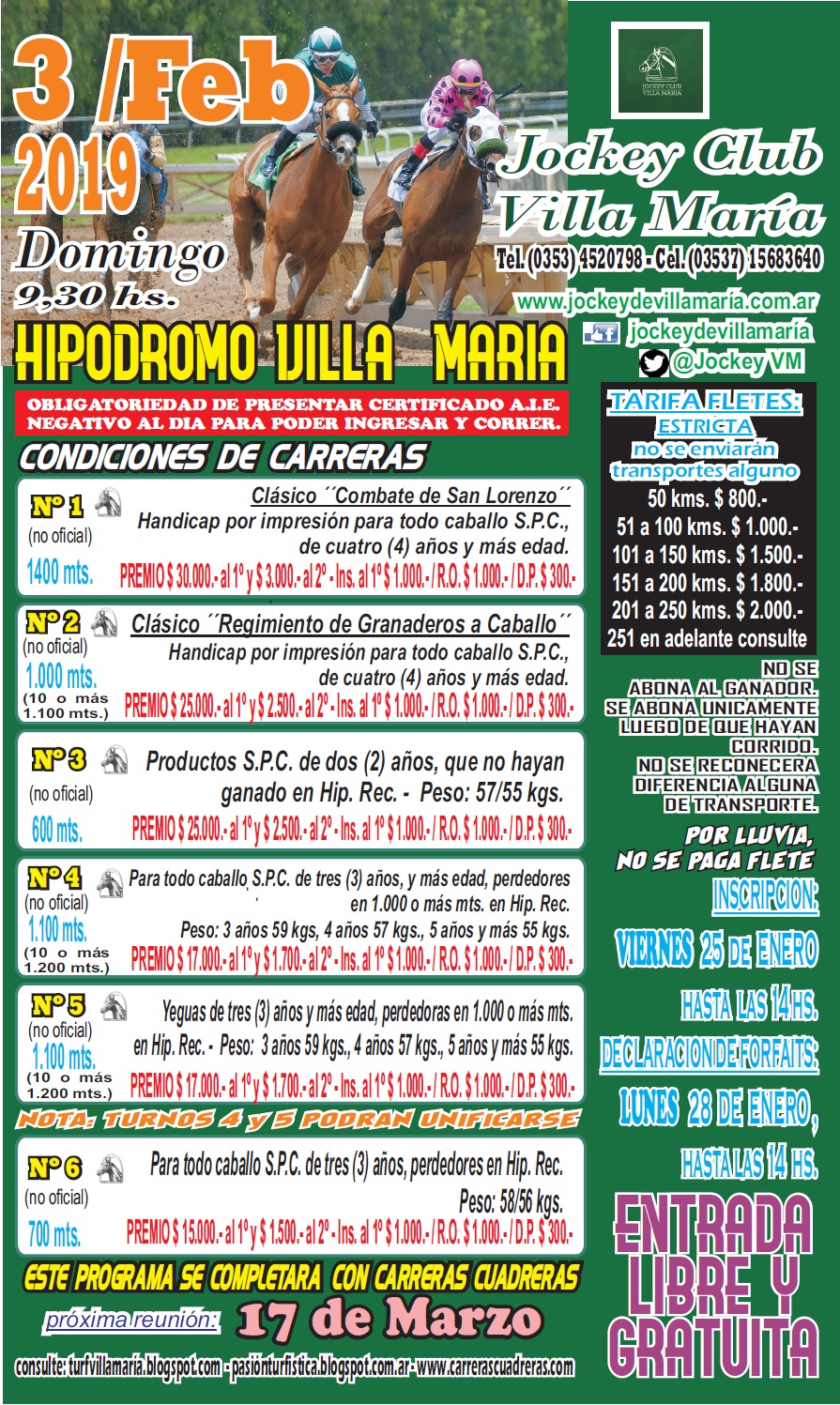 HIP DE VILLA MARIA CARTA