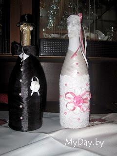 оформление бутылок шампанского