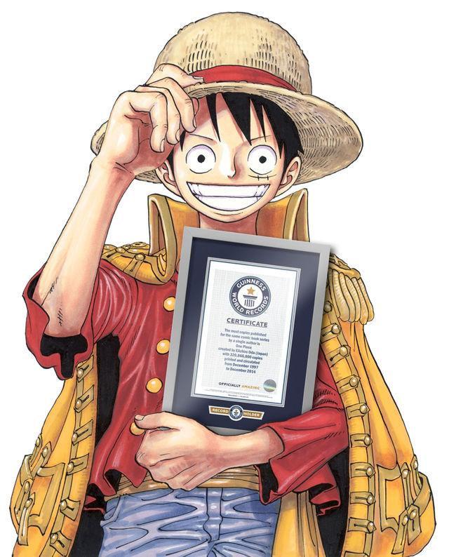 Monkey D. Luffy z One Piece z certyfikatem Księgi rekordów Guinnessa