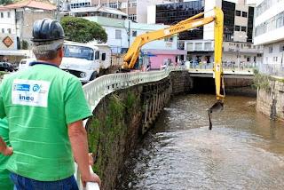 Desassoreamento rio Paquequer em Teresópolis