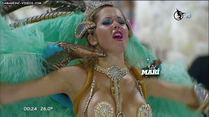 Argentina Carnival 2013 hot blonde big tits