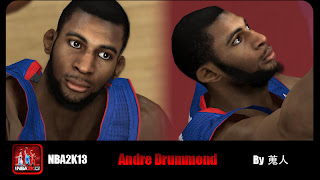 NBA 2K13 Andre Drummond Cyber Face Patch