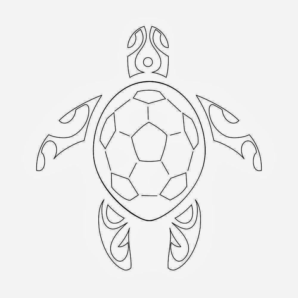 Declarative image regarding turtle stencil printable