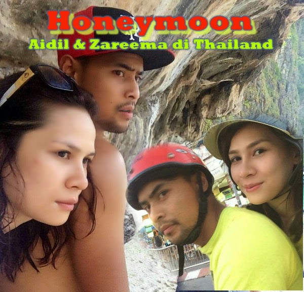 5 Gambar Honeymoon Aidil Zareema di Thailand