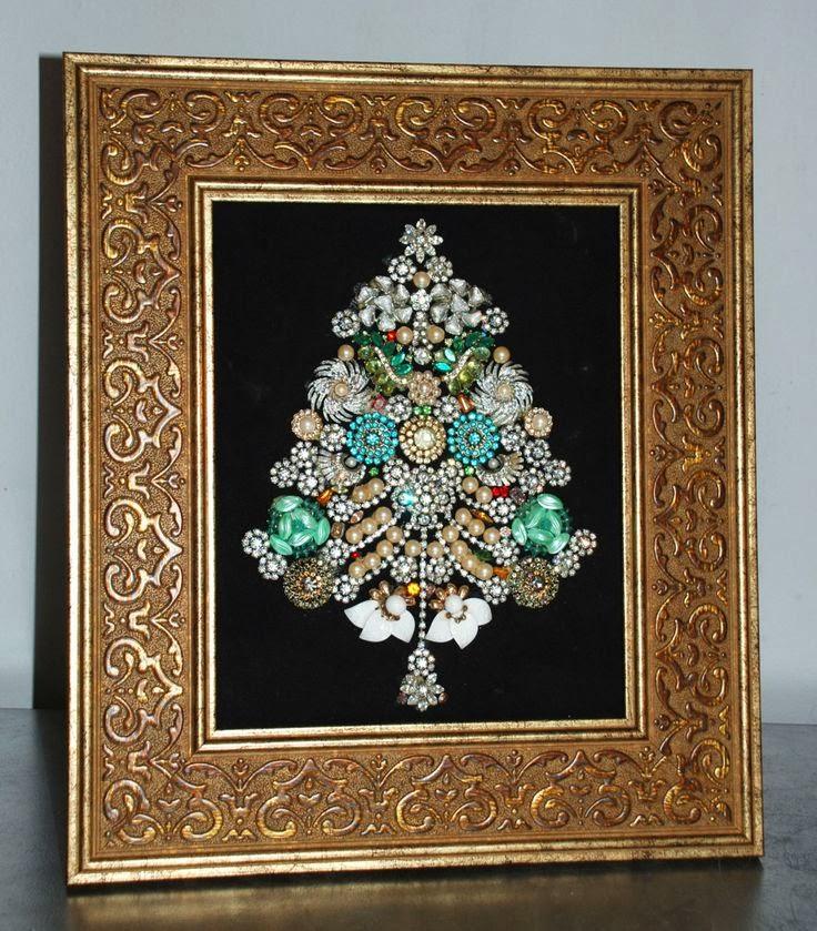 Vintage Jewelry Tree Art Assemblage By Lawnwalker