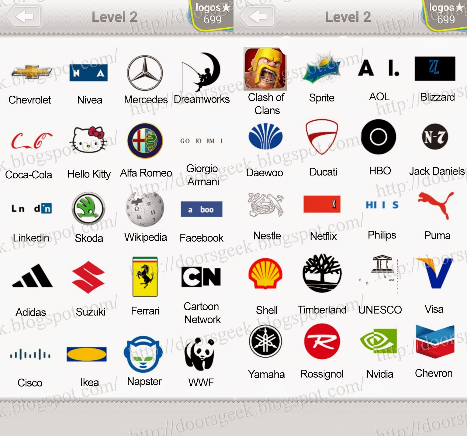 All the answers for Level 2 pack of Logo Quiz. Here is the list with ...