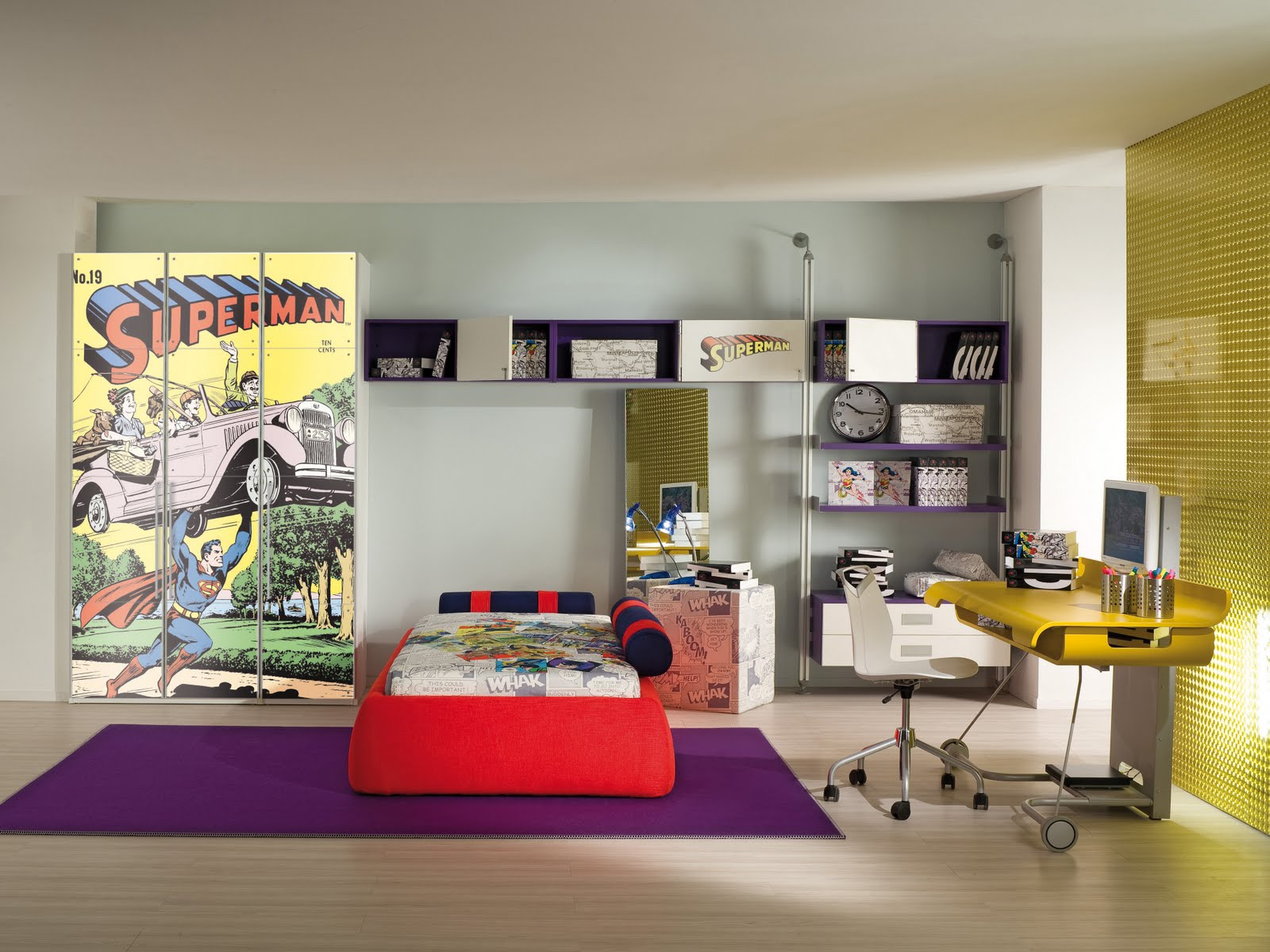 Camere per ragazzi man: soluzioni d arredo per le camere di ...