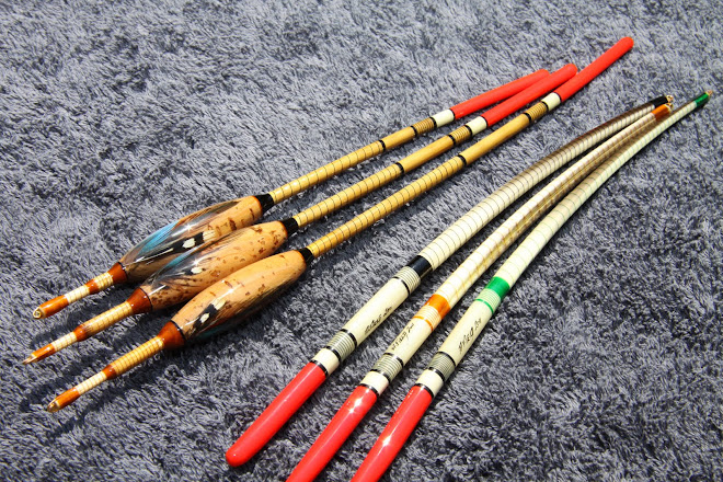 Cork and Reed Bodied Wagglers, Swan and Goose Quills