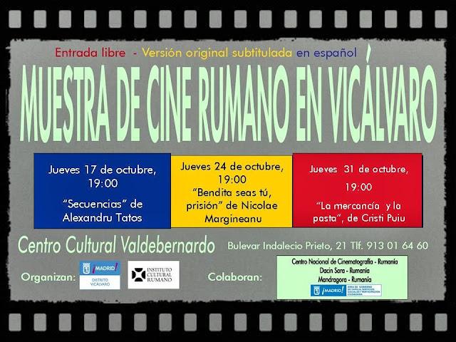 Muestra de cine rumano en Vicálvaro, octubre 2013