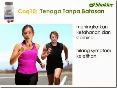 CoQ10 Health Plus shaklee meningkatkan ketahanan dan stamina serta menghilangkan simptom keletihan
