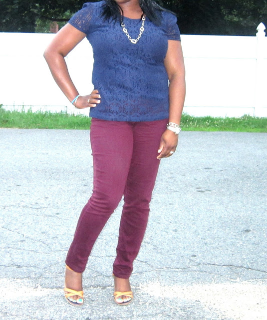 navy lace top, boxy top, skinny jeans, shoes to wear with skinny jeans