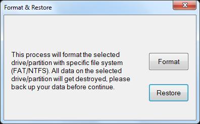 Phison Format & Restore v3.9.0.0 firmware update tool