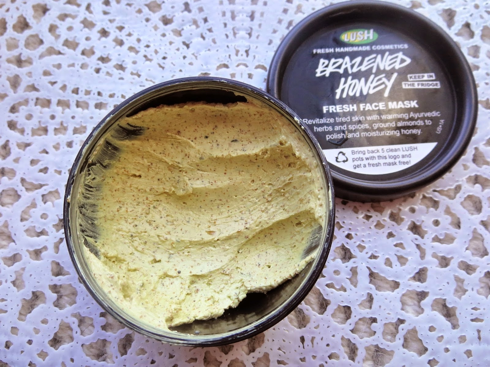 a picture of Lush Brazened Honey Fresh Face Mask