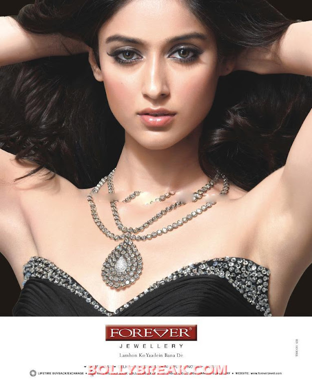 Ileana Forever Diamond Ad in Newspaper - Ileana Hot Ads for Forever Diamonds
