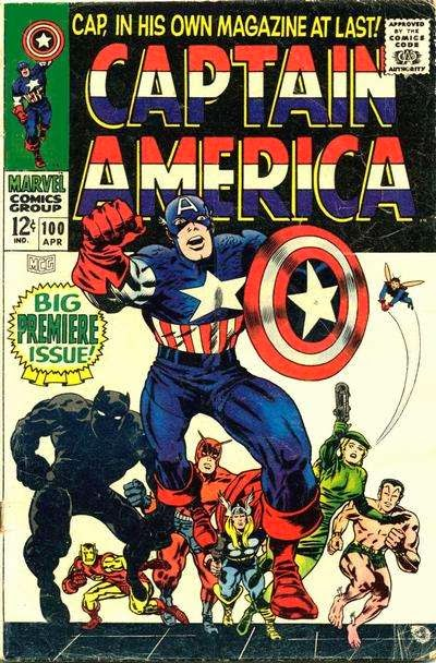 Captain America #100 comic cover