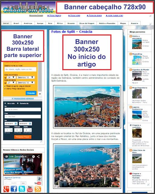 Publicidade no blog Cidades em Fotos