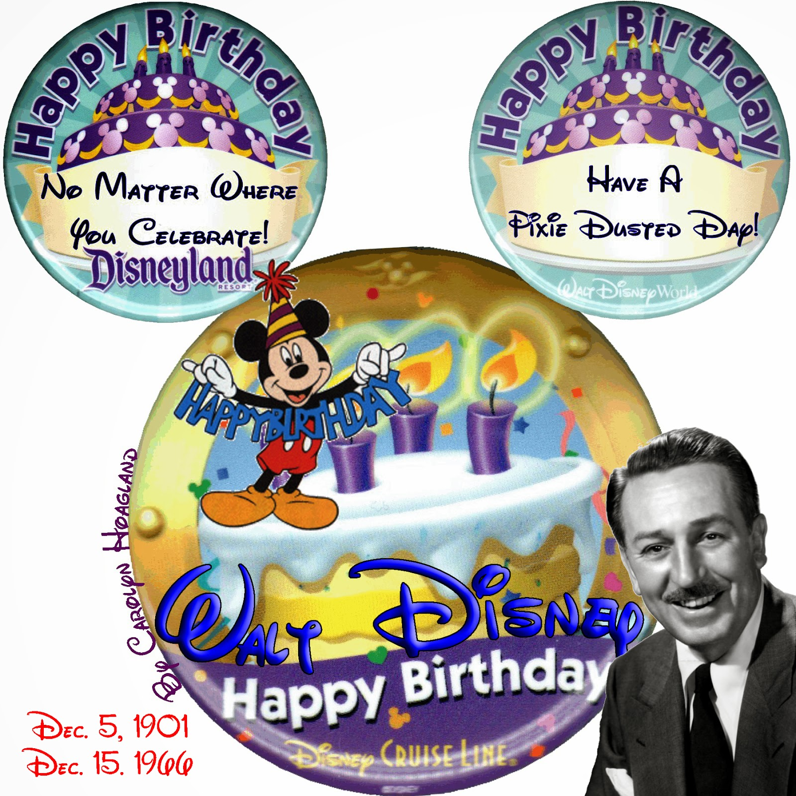 Pixie Pranks And Disney Fun Happy Birthday Walt Disney