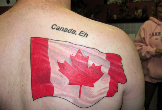 Canadian flag tattoo all flag for Canadian patriotic tattoos
