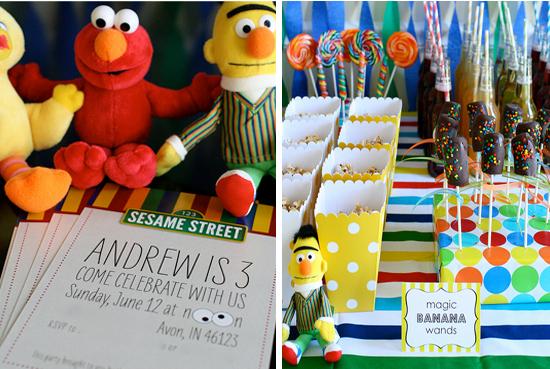 decoracin de fiestas infantiles de plaza sesamo sesame street
