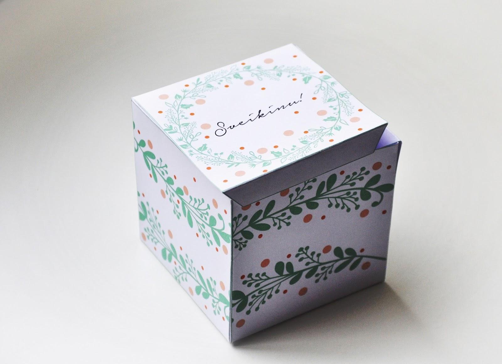 Dėžutė dovanoms DIY