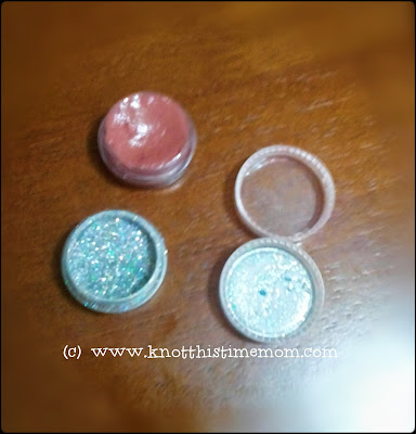Colored Lip Gloss and Glitter Cosmetic