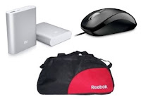 Buy Mi 10400 mAh Power Bank, Duffle Bag & Optical Mouse at Rs.350 : Buy To Earn